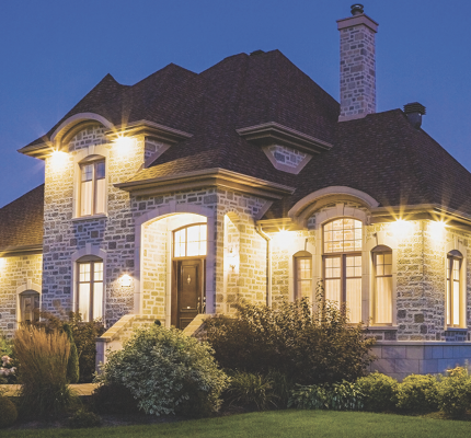 Lighting is a key component of curb appeal